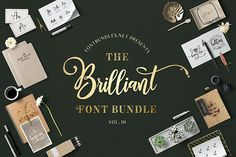 The Brilliant Font Bundle Volume III has arrived!Including 37 fonts from 20 different font families, this bundle is off for a limited time only.As always, our Premium License is included for Personal and Commercial Use. Typography Fonts, Lettering, Dingbat Fonts, Graphic Design Fonts, Cool Doodles, Font Combinations, Signature Fonts, Creative Fonts, Premium Fonts