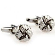 Silver 5 Stripes Metal Knot Cufflinks,Find cufflink supplies