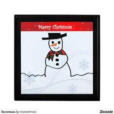 Snowman Jewelry Box #Snowman #Snow #Snowflake #Winter #Holiday #Christmas #Jewelry #Keepsake #Trinket #Gift #Box