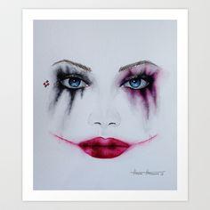 Harley Quinn Art Print by Halinka H - $17.68