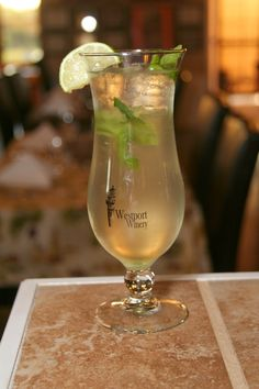 Today's special at Westport Winery: Mint Juleps and Margaritas. Serving lunch daily from 11-4 with dinner on Friday and Saturday from 4-8.