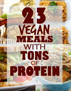 23 Vegan Meals With Tons Of Protein *The whole 'where do you get your protein' thing is so old. It's the least of your worries, because there's protein in plenty of vegan foods. I'm just saving this because it's vegan recipes/meals. Veggie Recipes, Whole Food Recipes, Healthy Recipes, Dinner Recipes, Chicken Recipes, Protein Recipes, Paleo Dinner, Veggie Food, Delicious Vegan Recipes