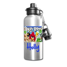 #Angry birds personalised kids/drinks/sports #childrens school lunch #water bottl,  View more on the LINK: http://www.zeppy.io/product/gb/2/172076795250/