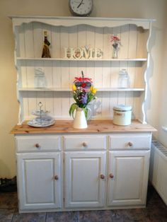Stunning Shabby Chic Pine Welsh Dresser Annie Sloan Original **reduced To £210