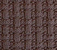 "Square 18 of the yearly Square Pickup"" KAL. Oh La Lana! Knitting Squares, Knitting Stitches, Knitting Patterns, Fingering Yarn, Garter Stitch, Square Blanket, Pattern Blocks, Edge Stitch, Basket Weaving"