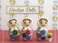 Matryoshka Garden Doll - Free Amigurumi Pattern here: http://www.craftside.net/2014/09/how-to-crochet-matryoshka-dolls-from.html