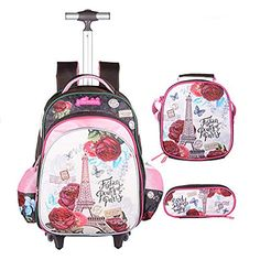 1913ca3c54bf Looking for Meetbelify Rolling Backpack Girls Lunch Bag Pencil Case School Bags  Wheeled Backpack   Check out our picks for the Meetbelify Rolling Backpack  ...