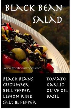 Black bean salads, Bean salads and Black beans on Pinterest