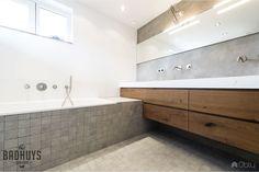 Badkamer met microcement en maatwerk meubel   Het Badhuys   OBLY.com   inspiratieplatform & blogazine luxe wonen