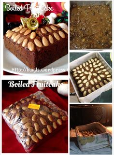 BOILED CHRISTMAS FRUITS AND NUTS CAKE 圣诞水果蛋糕