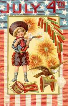 Nothing like a good #vintage 4th of July #postcard.