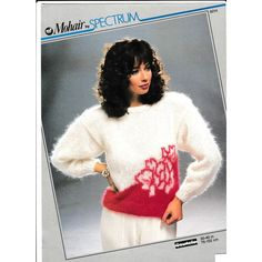 2ae44c8474558f Knitting Pattern - Spectrum 8214 - Teen Lady s Mohair Rose Motif Sweater 30- 40