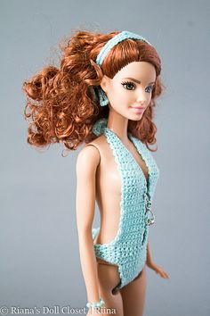 Tall Barbie doll bathing suit with matching by RianasDollCloset