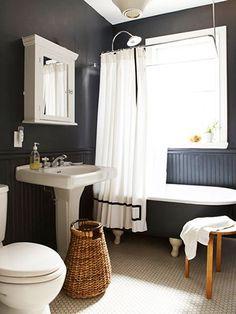 Look We're Loving: Masculine Bathrooms via @MyDomaine