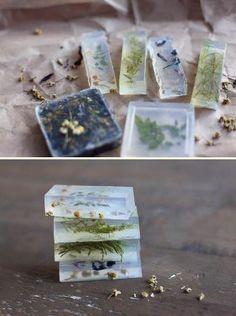 jabon de glicerina con hierbas