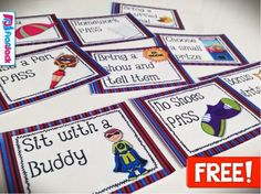Free Superhero Positive Behavior Coupons  #ClassroomFreebies