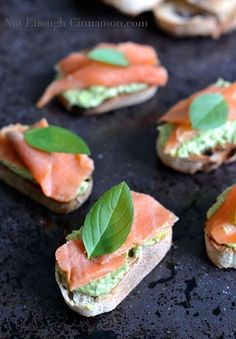Looking for Fast & Easy Appetizer Recipes, Seafood Recipes! Recipechart has over free recipes for you to browse. Find more recipes like Smoked Trout and Basil Pesto Cream Cheese Crostini. Trout Recipes, Seafood Recipes, Cheese Appetizers, Appetizer Recipes, Smoked Salmon Appetizer, Salmon Canapes, Gluten Free Puff Pastry, Smoked Trout, Snacks Sains