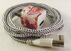A personal favorite from my Etsy shop https://www.etsy.com/listing/273771632/iphone-5-6-charger-cord-wall-plug