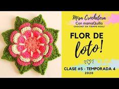 FLOR DE LOTO - Crochet En Tiempo Real Con MamaQuilla