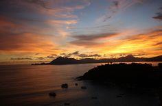 A shot of the sunset in Mazatlan Beach, Mexico.