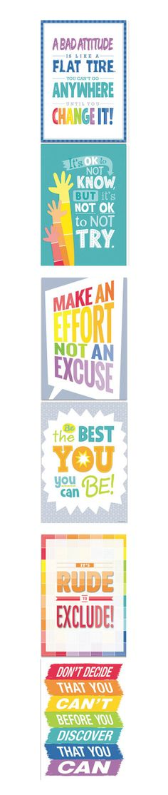 Send positive messages to your students with these inspirational posters!