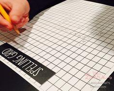 Spelling grid example