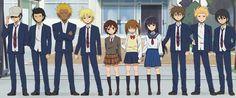 Daily lives of high school boys characters School Boy, High School, Danshi Koukousei No Nichijou, Boy Character, Family Guy, Guys, Anime, Fictional Characters, Grammar School