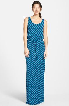 Caslon® Drawstring Waist Maxi Dress (Regular & Petite) available at #Nordstrom