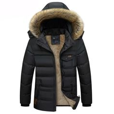 f0aaed4caf90 Men s Burley III Down Jacket with Hooded Fur Collar