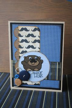 Bear Hugs. Paper Smooches stamps