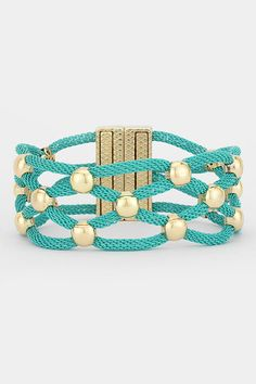 Henley Bracelet in Latticed Mint on Emma Stine Limited