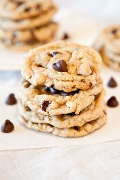 Peanut Butter Chocolate Chip Oatmeal Cookies | Averie Cooks
