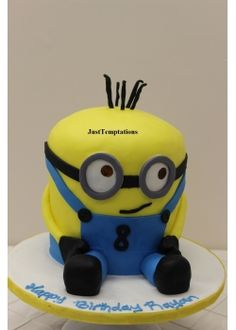 Minion Custom Birthday Cake Baby cake Pinterest Custom