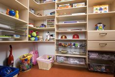 We can turn the chaos of a child's room into a brilliant storehouse of treasures, toys and clothes that are a pleasure to see and use. Walk In Wardrobe Design, Bed Wall, Child's Room, Storage Solutions, Home Office, Kids Room, Bookcase, Bedrooms, Shelves