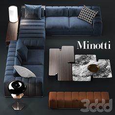 3d модели: Диваны - Диван minotti freeman seating system