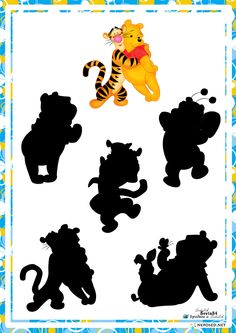 educational game find a shadow, whose shadow with Disney characters Winnie the Pooh Kindergarten Fun, Preschool, Hidden Pictures, Folder Games, Disney Winnie The Pooh, Learning Through Play, Educational Games, Tigger, Art For Kids