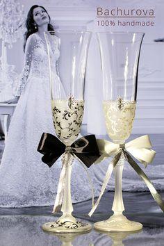 Svatební přípitkové skleničky Flute, Champagne, Tableware, Bohemia, Dinnerware, Tablewares, Flutes, Dishes, Tin Whistle