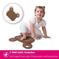 OZAKI O!kiddo Soft Protective Non-Toxic BOBO BEAR iPad Air/Air 2 Case For Kids - Coffee Best Ipad, Air Air, Retina Display, Ipad Air 2, Ipad Mini, Gadget, Cell Phone Accessories, Children, Kids