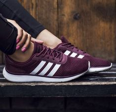 buy popular a605c 4340f  shoes  sneakers Adidas Neo Shoes, Addidas Shoes Running, Shoes Addidas,  Maroon