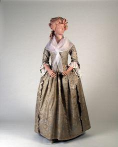 Wedding robe a l'anglaise, 1780-90