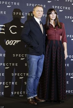 007 hits Italy: Daniel Craig and Monica Bellucci cosied up at the Rome photocall for their...