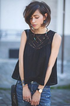 Trendy Short Haircuts for Fine Hair Click image for info Medium Hair Styles, Short Hair Styles, Haircuts For Fine Hair, Short Haircuts, Trendy Haircuts, Asymmetrical Haircuts, Corte Y Color, Great Hair, Hair Today