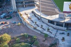 Awesome photos by SUNTEC CONCRETE. They're doing fine work at #SunDevilStadium. #ASUFootball #ForksUp