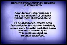 Pete Walker explains this well. Here is an example of the layered processes of an emotional flashback. A complex PTSD sufferer wakes up feeling depressed. Because childhood experience has condition… Abandonment Quotes, Trauma Quotes, Victim Quotes, Narcissist Quotes, Trauma Therapy, Art Therapy, Ptsd Awareness, Complex Ptsd, Post Traumatic
