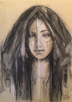 'Beautiful Soul' | Soul studies in charcoal, by tamarapatrick.com