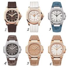 60907b05ff6 Patek Philippe - Lady Aquanut Luce in different colors