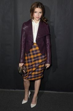Wear a plaid skirt with a silk blouse for work, or add a printed t-shirt and leather jacket for drinks—it'll instantly give it a bit of a punk