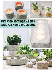 Cement, Candle Holder, Planter, Pot, Workshop, DIY, How-to, Prince Edward County
