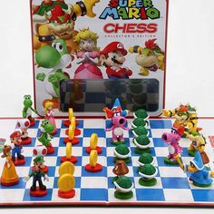 Super Mario Chess Game My youngest enjoys his set very much Captain Marvel, Marvel Avengers, Lego Marvel, Chess Pieces, Game Pieces, Mario Und Luigi, Holiday Gifts, Christmas Gifts, Games
