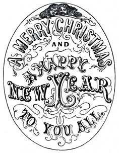 Old Time Christmas Typography! - The Graphics Fairy